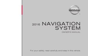 2016 Nissan Z COUPE 08IT Navigation Manual