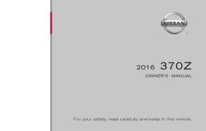 2016 Nissan Z COUPE Owner Manual