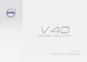 2016 Volvo V40 Cross Country Owners Manual