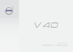 2016 Volvo V40 Owners Manual