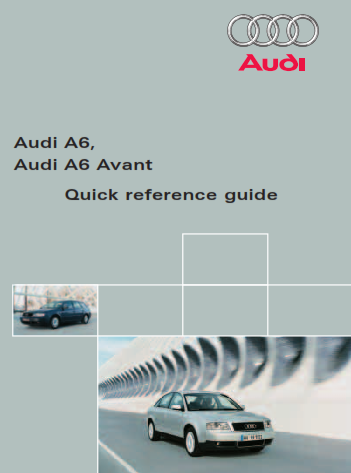 2016 Audi a6 Quick Reference Guide Free Download