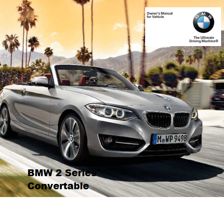 2016 Bmw 2 Series Convertible Owners Manual Free Download