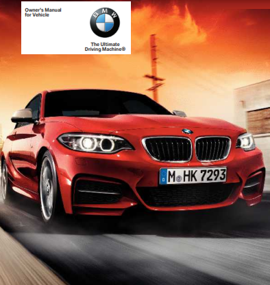 2016 Bmw 2 Series Coupe Owners Manual Free Download