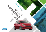 2016 Ford c-max Energi Plug In Hybrid Quick Reference Guide Free Download