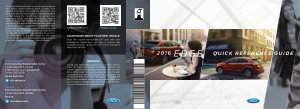 2016 Ford Edge Quick Reference Guide Free Download