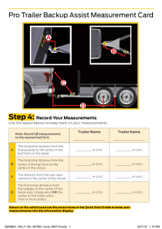 2016 Ford f-150 Pro Trailer Backup Assist Measurement Card Free Download