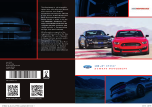 2016 Ford Mustang Shelby gt350 Supplement Free Download