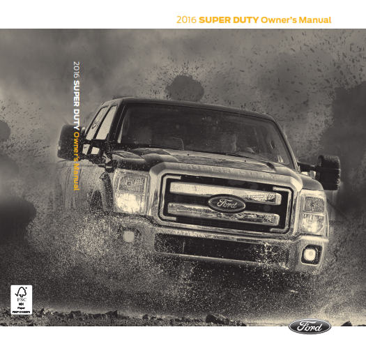 2016 Ford Super Duty Litho Owner Manual Free Download