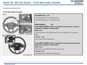 2016 Hyundai Accent Front Seat Audio Controls Quick Tips Manual Free Download