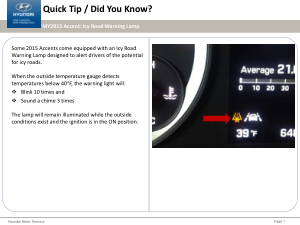 2016 Hyundai Accent Icy Road Warning Lamp Quick Tips Manual Free Download