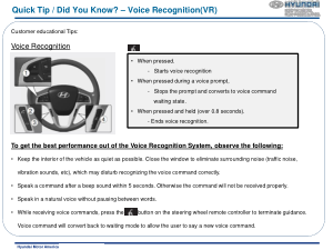 2016 Hyundai Accent Voice Recognition Quick Tips Manual Free Download