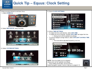 2016 Hyundai Equus Clock Settings Quick Tips Manual Free Download