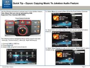 2016 Hyundai Equus Copying Music To Jukebox Audio Feature Quick Tips Manual Free Download