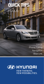2016 Hyundai Equus Phone Pairing Navigation Blue Link Quick Tips Manual Free Download