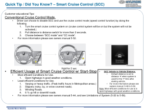 2016 Hyundai Equus Smart Cruise Control Quick Tips Manual Free Download
