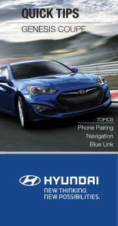 2016 Hyundai Genesis Coupe Quick Reference Guide Free Download