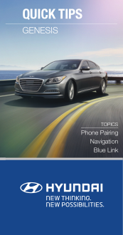2016 Hyundai Genesis Phone Pairing Navigation Blue Link Quick Tips Manual Free Download