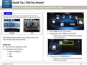 2016 Hyundai Genesis Parking Assist System Quick Tips Manual Free Download