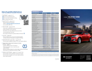 2016 Hyundai Veloster Turbo Quick Reference Guide Free Download