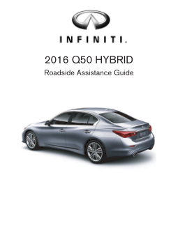 2016 Infiniti Usa q50 Hybrid Roadside Assistance Guide Free Download