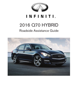 2016 Infiniti Usa q70 Hybrid Roadside Assistance Guide Free Download