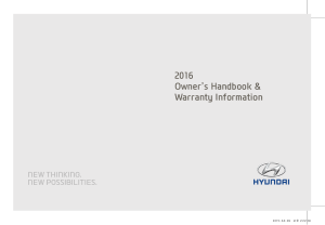 2016 My Hyundai All Models Warranty Handbook Free Download