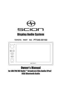 2016 Scion fr-s Display Audio System Owners Manual Free Download