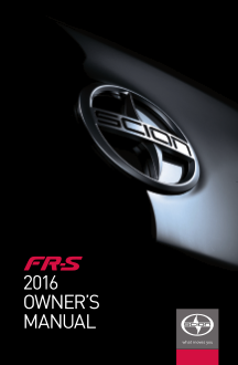 2016 Scion fr-s Owners Manual Free Download