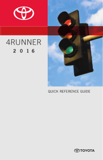 2016 Toyota 4runner Quick Reference Guide Free Download