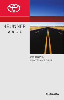 2016 Toyota 4runner Warranty And Maintenance Guide Free Download