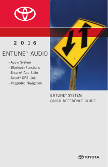2016 Toyota Highlander Hybrid Entune Audio System Quick Reference Guide Free Download