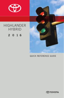 2016 Toyota Highlander Hybrid Quick Reference Guide Free Download