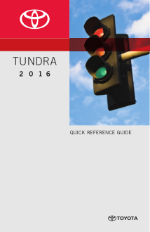 2016 Toyota Tundra Quick Reference Guide Free Download