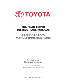 2016 Toyota Tundra Tonneau Cover Instruction Manual Free Download