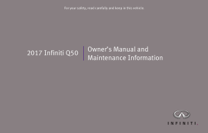 2017 Infiniti Q50 Owner Manual And Maintenance Info
