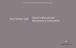 2017 Infiniti Q60 Coupe Owner Manual