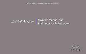 2017 Infiniti QX60 Owner Manual