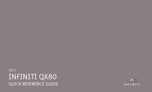 2017 Infiniti Qx80 Quick Reference Guide