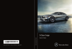 2017 Mercedes Benz S Coupe Operator Manual