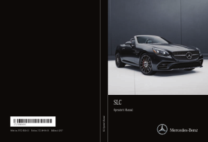 2017 Mercedes Benz SLC Operator Manual