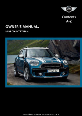 2017 Mini USA COUNTRYMAN Paceman Owners Manual With Touchscreen