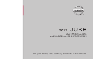 2017 Nissan JUKE Owner Manual