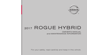 2017 Nissan ROGUE HYBRID Owner Manual