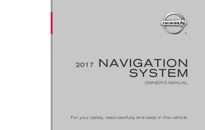 2017 Nissan ROGUE LC2F Kai Navigation Manual