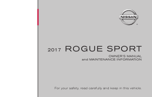 2017 Nissan ROGUE SPORT Owner Manual