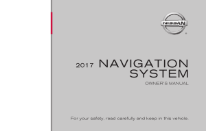 2017 Nissan SENTRA LC2 Kai Navigation Manual