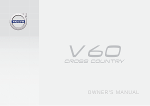 2017 Volvo V60 Cross Country Owners Manual