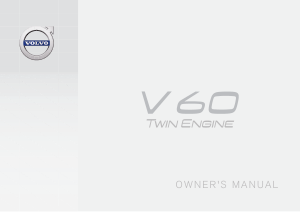 2017 Volvo V60 Twin Engine Owners Manual