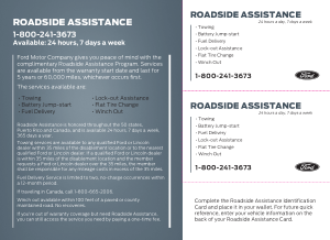 2017 Ford f-750 Roadside Assistance Free Download