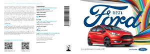 2017 Ford Fiesta Quick Reference Guide Free Download